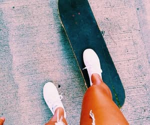 skateboard, summer, and skate image