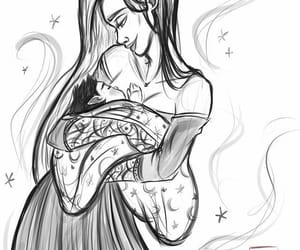 mom, morrigan, and son image