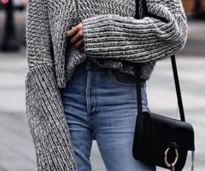 outfit, sweater, and denim image