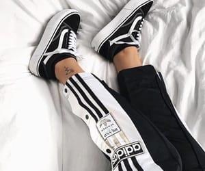 vans, adidas, and black image
