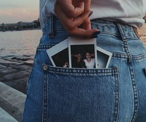 jeans, polaroid, and photo image