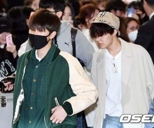 kpop, rm, and airport fashion image