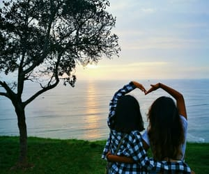 atardecer, bff, and love image