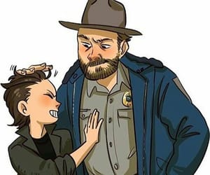 eleven, david harbour, and hopper image