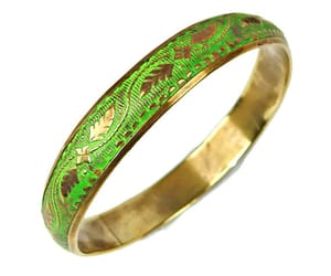 over brass, green enamel, and boho jewelry image