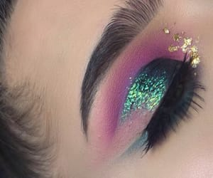 art, eye makeup, and eyes image