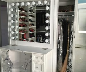 beauty, chic, and makeup vanity image