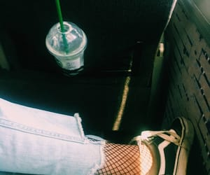 boyfriend jeans, tumblr, and fishnets image