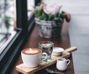 cafe, tumblr, and water image
