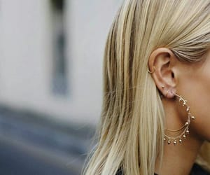 blond, ear, and hair image