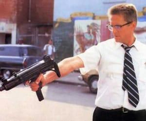 falling down, gun, and michael douglas image