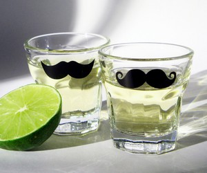moustache, drink, and swag image