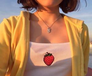 aesthetic, fashion, and strawberry image