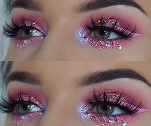 pink, glitter, and eyes image