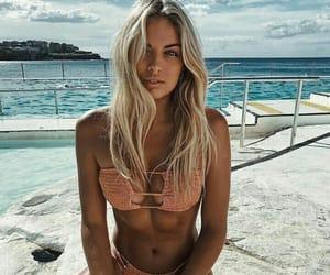beach, bikini, and beautiful image