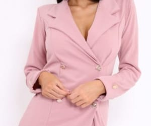 button up, long sleeve, and blush pink image