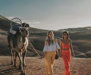 bff, camel, and girls image