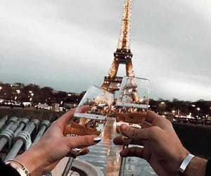 champagne, paris, and couple image