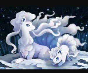moon, pokemon, and snow image