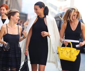 blackdress, fashion, and runway image