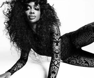 b&w, black & white, and black girl image