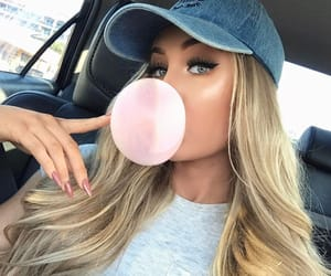 beauty, blonde, and gum image