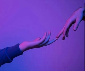 purple, aesthetic, and hands image
