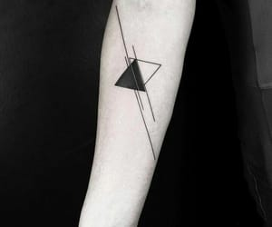 black and white, lines, and tattoo image