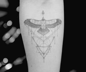 black, eagle, and tattoo image