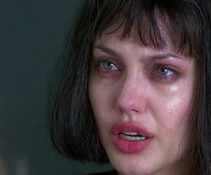 Angelina Jolie, crying, and cry image