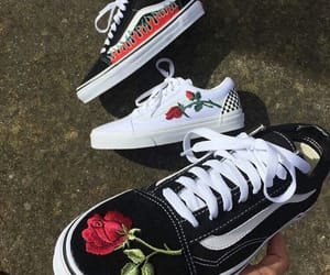 vans, shoes, and rose image