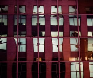 building, windows, and maroon image