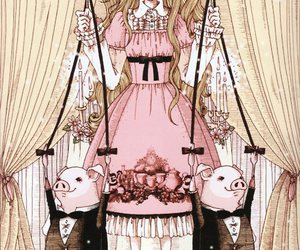 clothes, doll, and pigs image