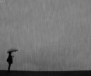 rain, gif, and alone image