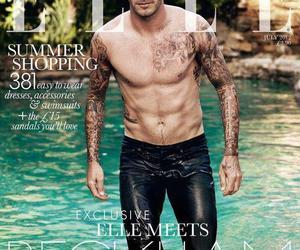David Beckham and Elle image