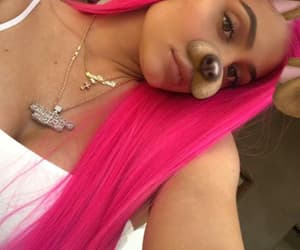 kylie jenner, beauty, and pink hair image