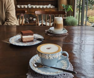 coffee, delicious, and cake image