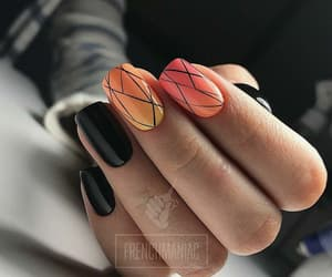 amazing, nails, and orange image