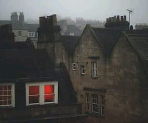 house, fog, and red image