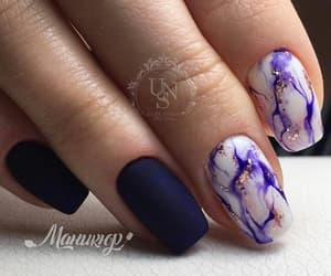nails, purple, and marbel image