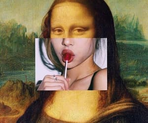 art, aesthetic, and mona lisa image