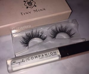 makeup, lashes, and beauty image