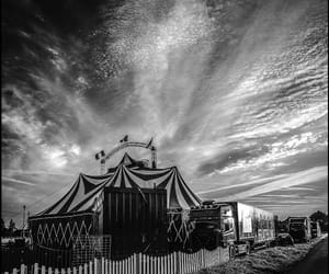 b&w, circus, and photography image
