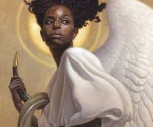 angel, angelic, and black angel image