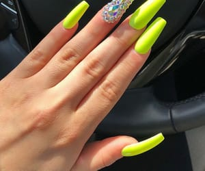 beauty, neon nails, and nails goals image