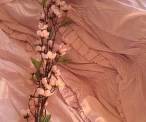 flowers, peach, and pastel image