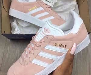 adidas, pink nails, and light pink image