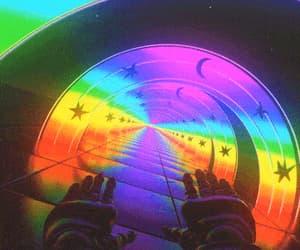 gif and rainbow image