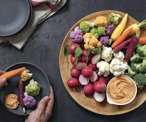 cauliflower, healthy, and raw image