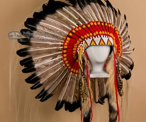 headdress, indian headdress, and indian hat and warbonnet image
